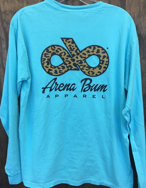 Turquoise Cheetah Long sleeve