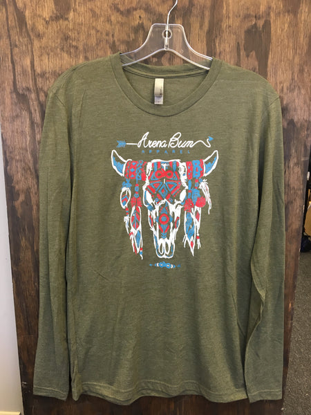 Olive steer head long sleeve