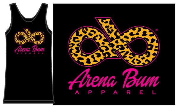 Hot pink & black cheetah tank