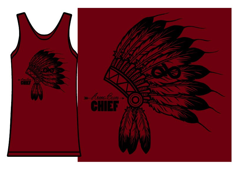 maroon headdress tank