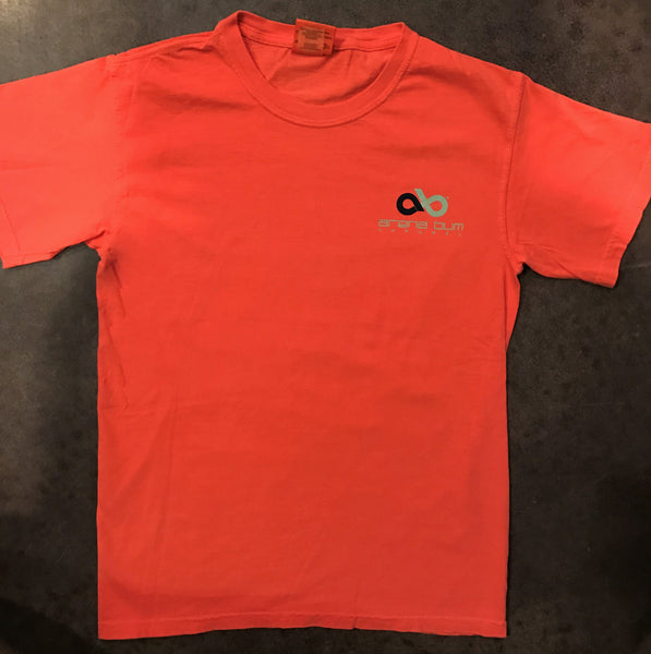 Bright salmon 'Boots' short sleeve