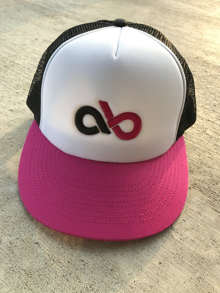 Hot pink foam cap