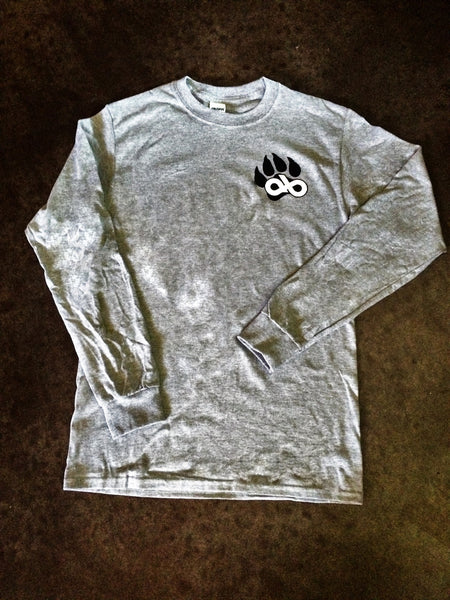 Arena Bum football grey long sleeve tee
