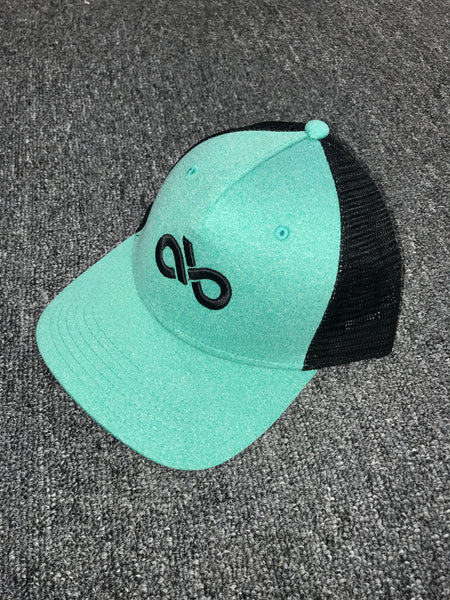Heather seafoam/blk snapback