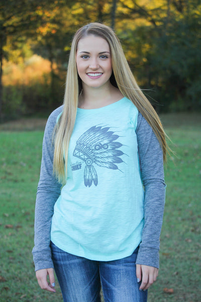 Mint headdress long sleeve