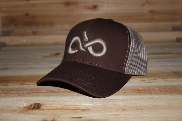 brown/khaki mesh back cap