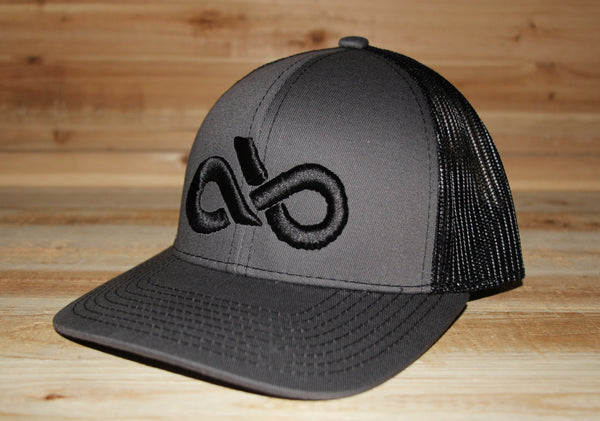 Charcoal/black mesh back cap