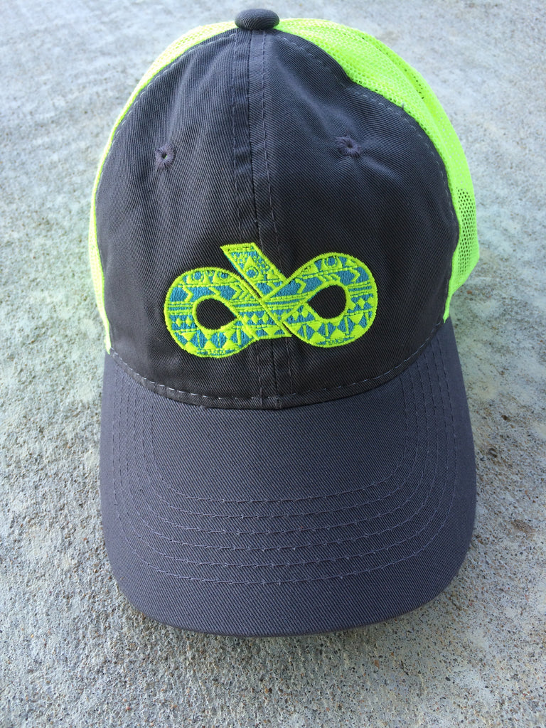 CHARCOAL/NEON YELLOW AZTEC CAP