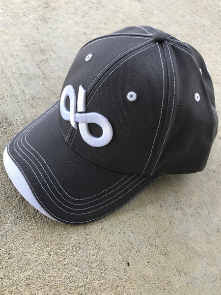 charcoal & white cap