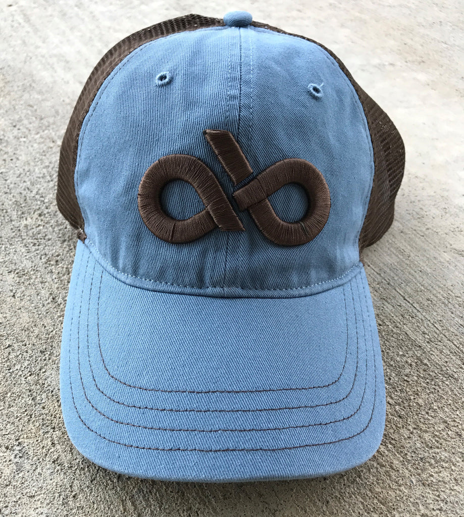 Captain blue/brown mesh cap