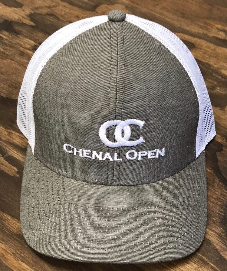Chenal open heather brown cap