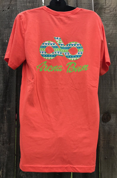 Coral aztec short sleeve