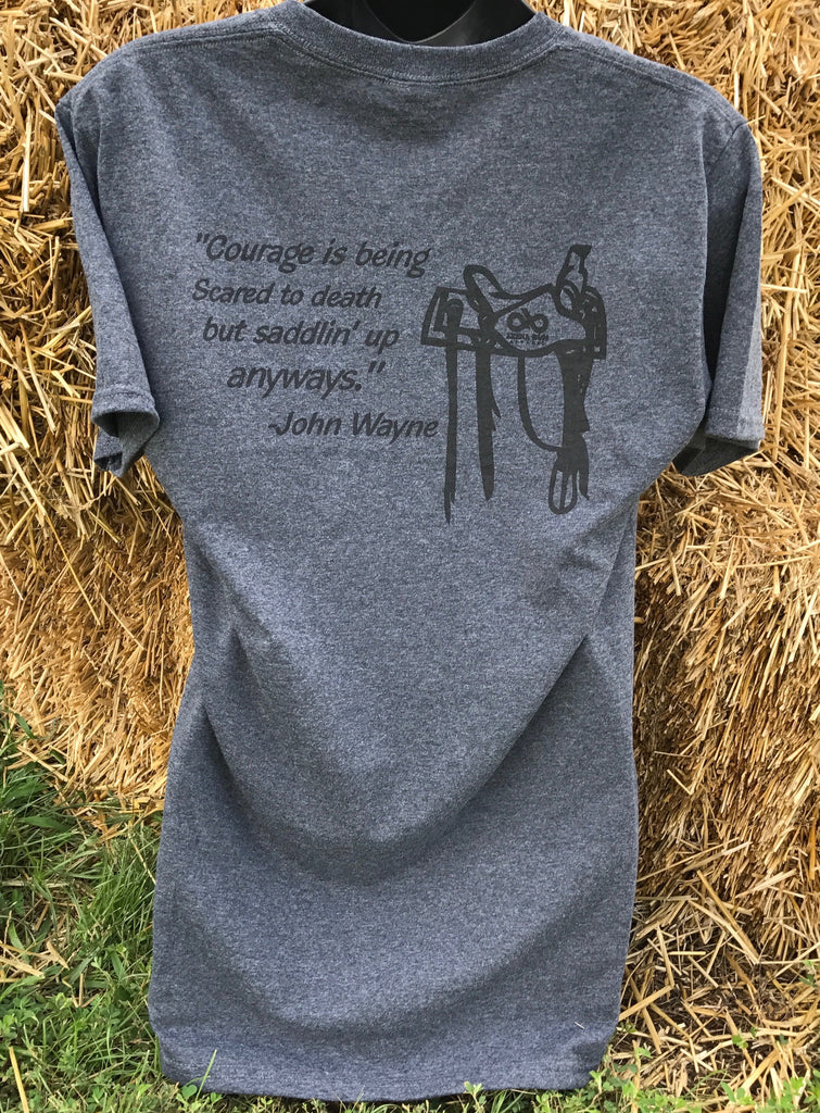 Black john wayne short sleeve