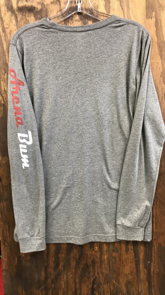 Grey two tone long sleeve shirt
