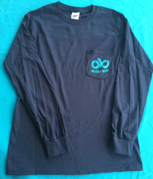 Navy/turquoise long sleeve