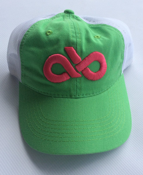 Youth Lime green/pink mesh back cap