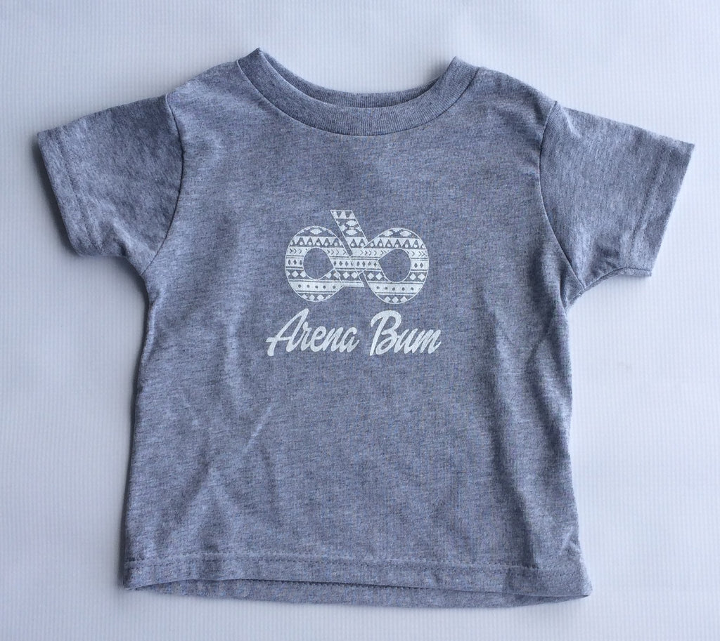 Toddler grey/white aztec tee
