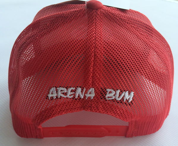 All Red mesh cap