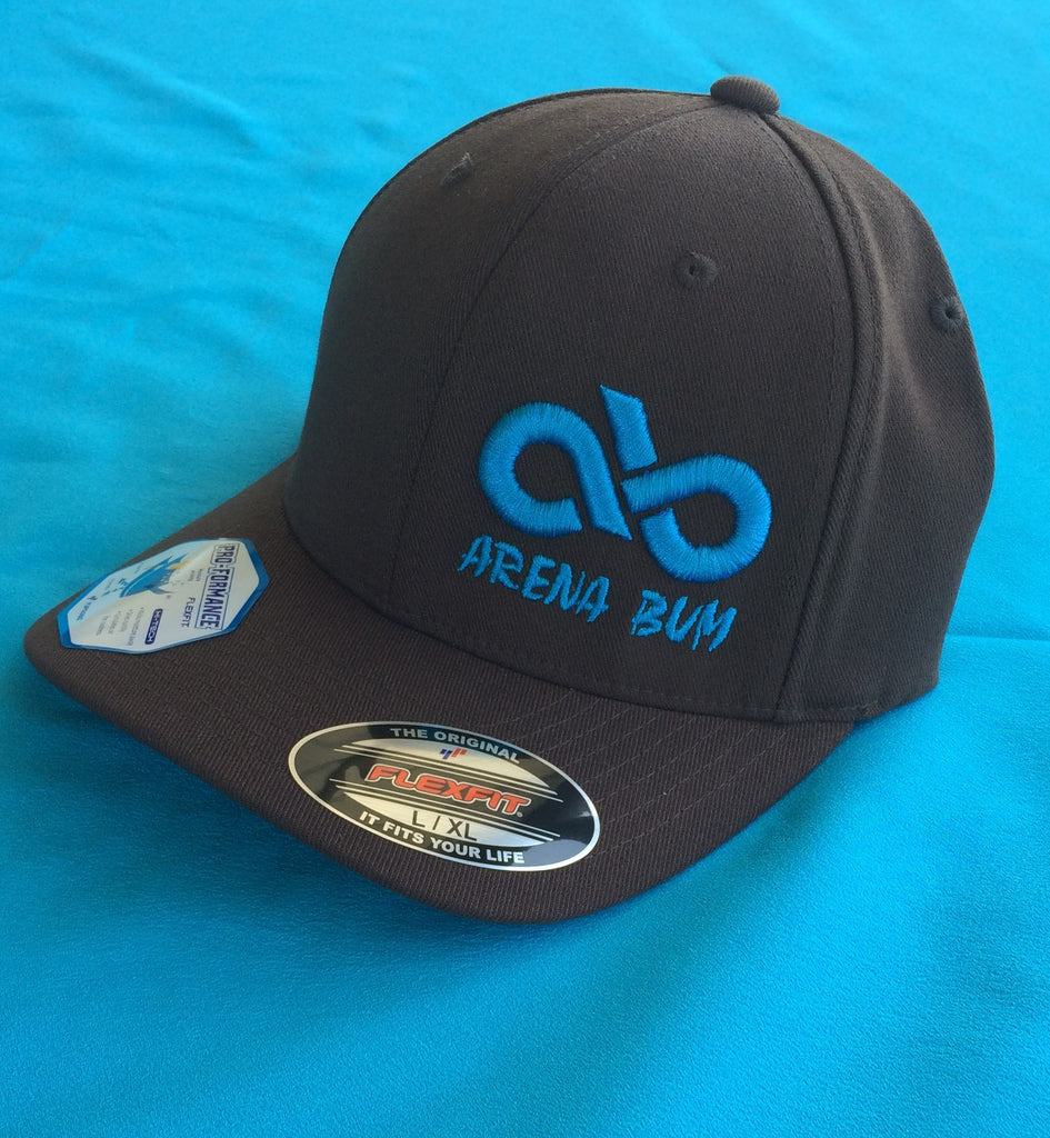 Brown and Turquoise Cap