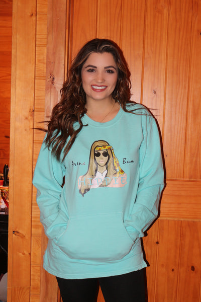 Chalky mint hippie sweatshirt