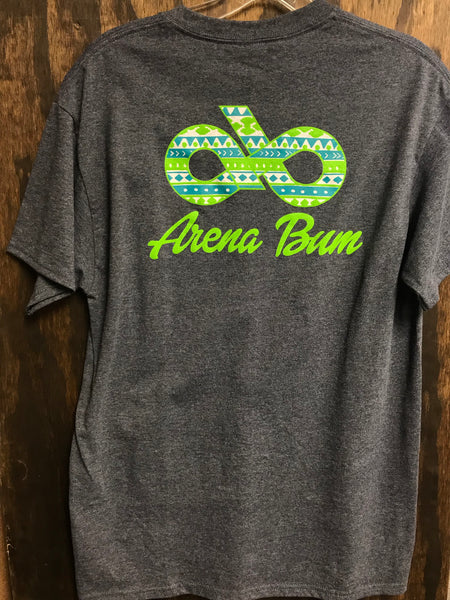 Navy Aztec-lime logo front