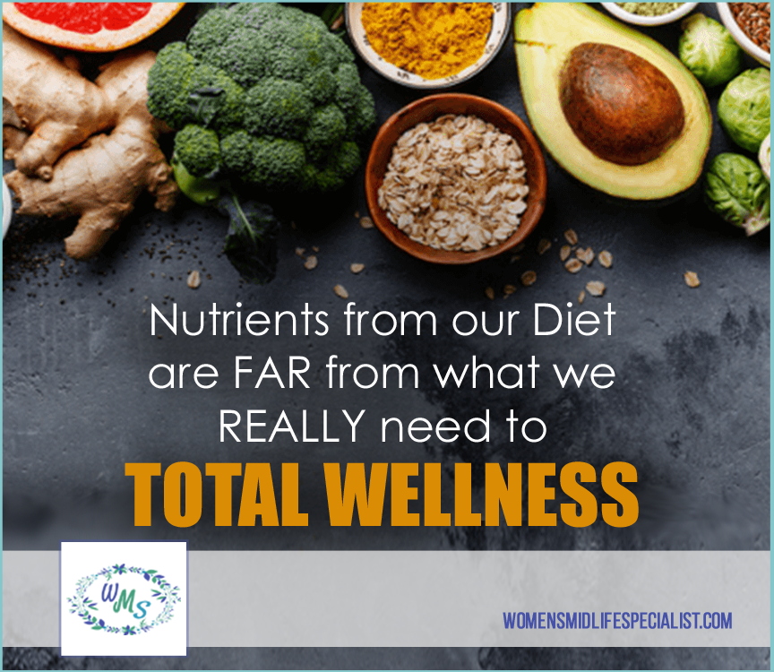 Nutrients from our Diet are far from what we Really need for Optimal Health!