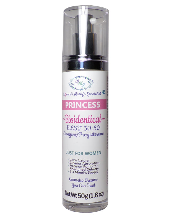 PRINCESS - BiEST (50:50) Estrogens and Progesterone in an All Natural Cream – 200 Pumps Per Bottle!