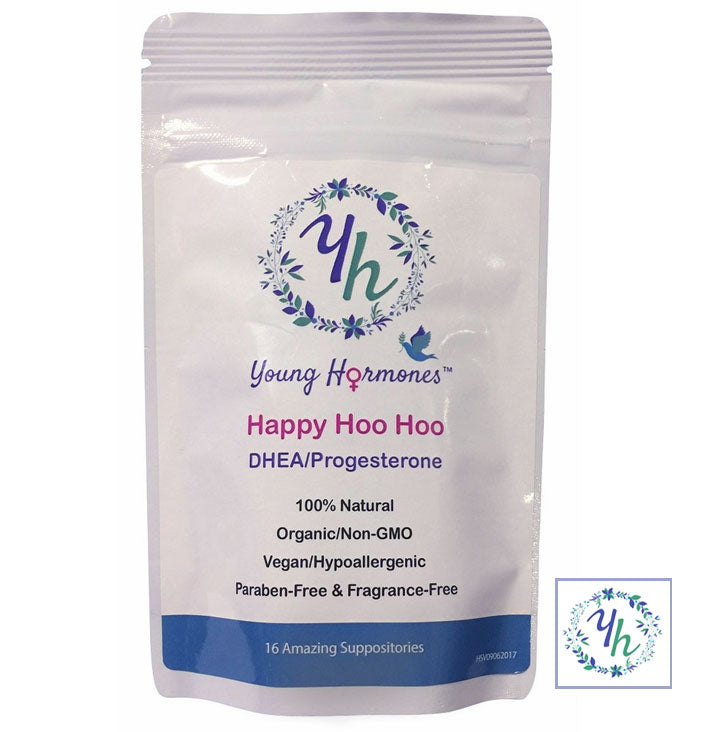 HAPPY HOO HOO - Bioidentical DHEA USP & Progesterone USP in a Vaginal Suppository