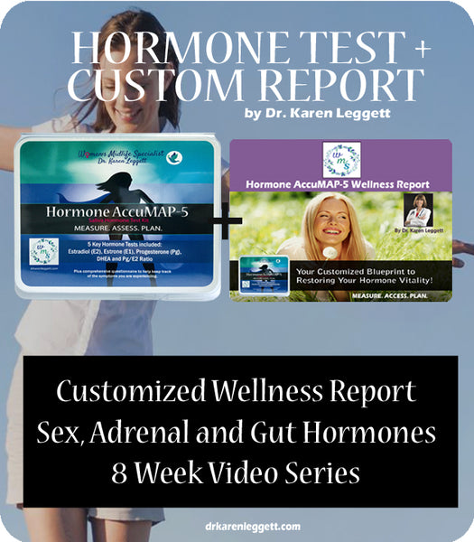 Hormone AccuMAP-5 Test Kit PLUS Custom Wellness Report from Dr. Karen Leggett