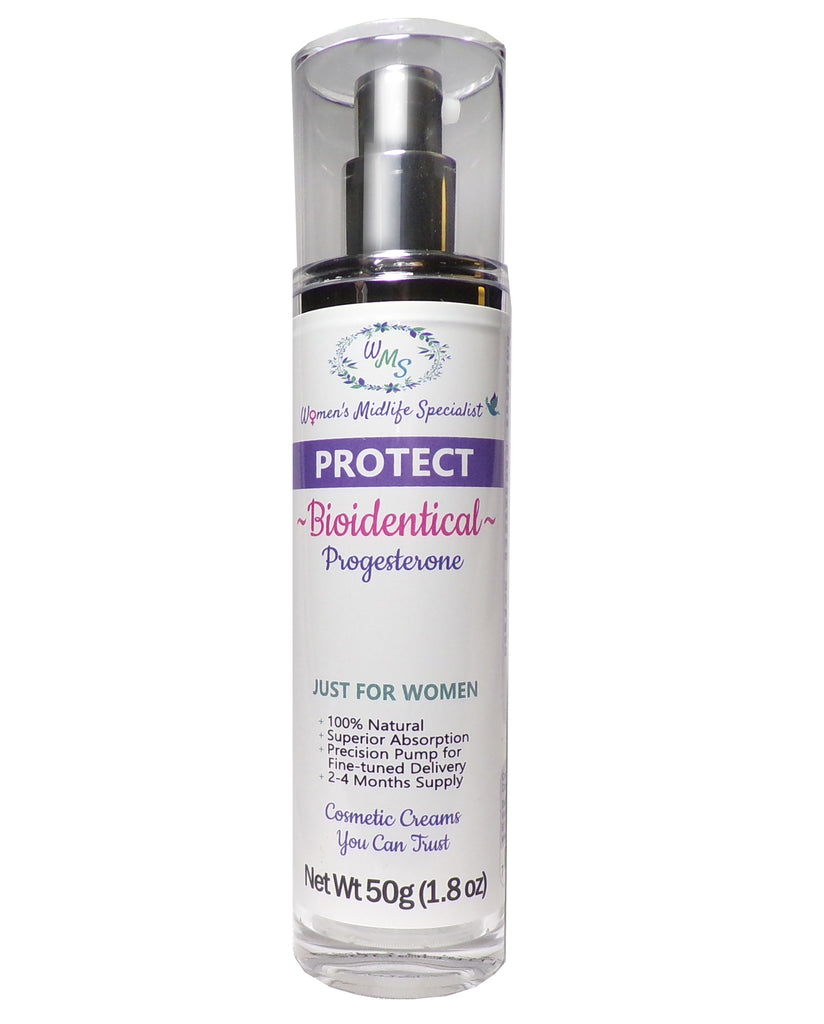 PROTECT - Progesterone USP in an All Natural Cream - 200 Pumps Per Bottle!