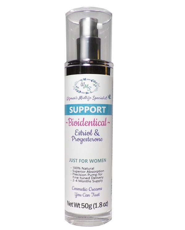 SUPPORT - Estriol USP & Progesterone USP in an All Natural Cream - 200 Pumps Per Bottle!