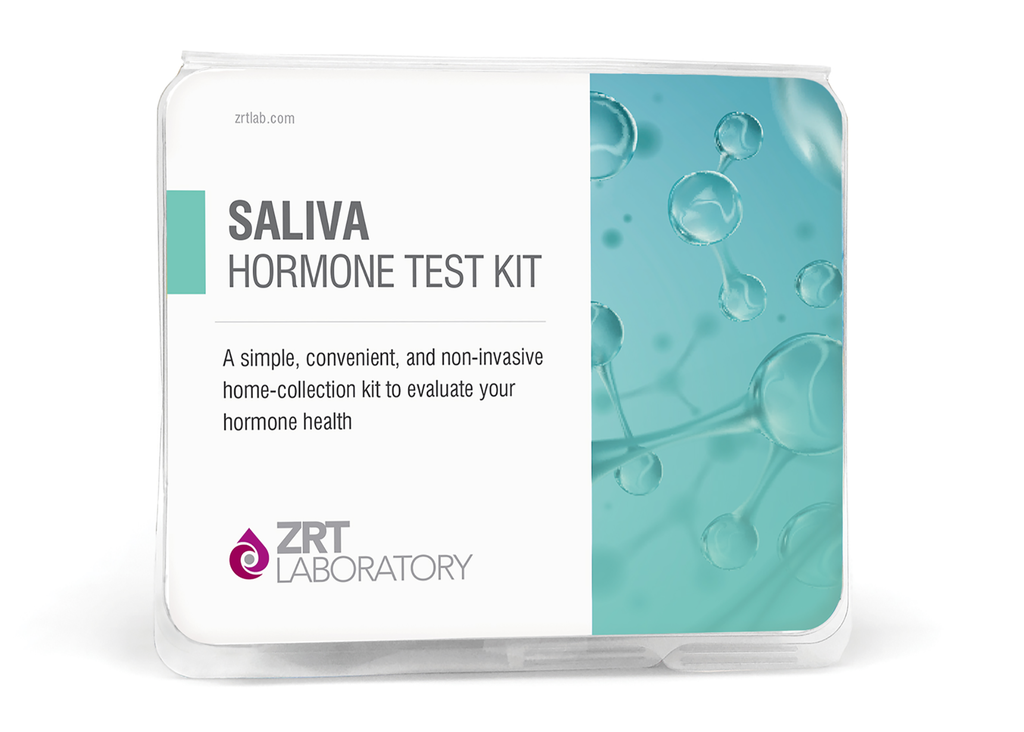 Test Kit - Saliva Profile One with Added E1 - 6 Tests:  Estrone (E1), Estradiol (E2), Progesterone (Pg), Pg/E2 Ratio, Testosterone (T), DHEA-S, and morning Cortisol (C1)