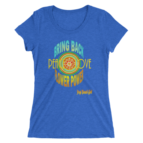 Yogi Beach Girl Original Designs - Ladies Short Sleeve Tri-Blend Tee Collection