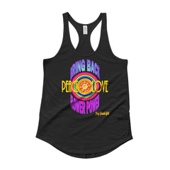 """Bring Back Flower Power"" #1 Ladies' Racerback Shirttail Tank"