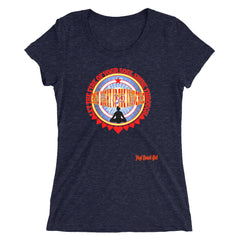 """Let the Fire Of Your Soul Shine Through And Light Up The Universe"" Ladies' Short Sleeve Tri-Blend Tee"
