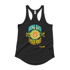 """Bring Back Flower Power"" #2 Ladies' Racerback Shirttail Tank"