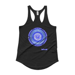 """Throat Chakra"" Ladies' Racerback Shirttail Tank"