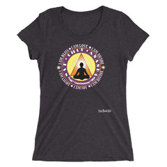 """Sat Chit Ananda "" Ladies' Short Sleeve Tri-Blend Tee"