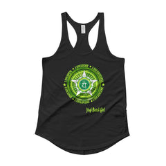"""Heart Chakra"" Ladies' Racerback Shirttail Tank"