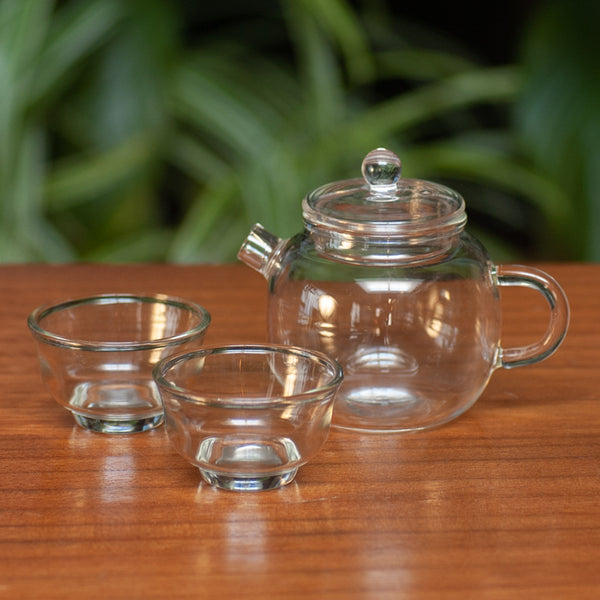 Glass Teapot and Cups