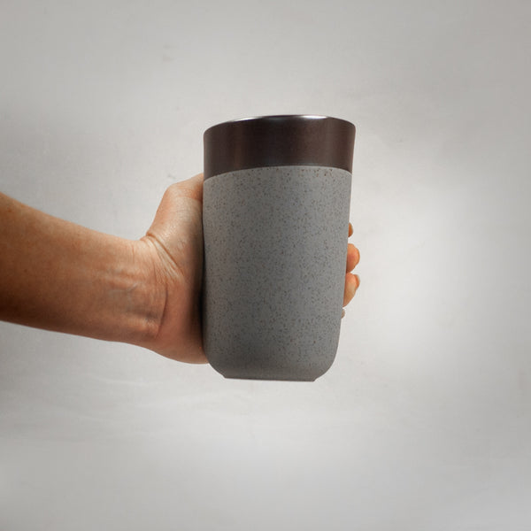 Ceramic Brown Travel Mug