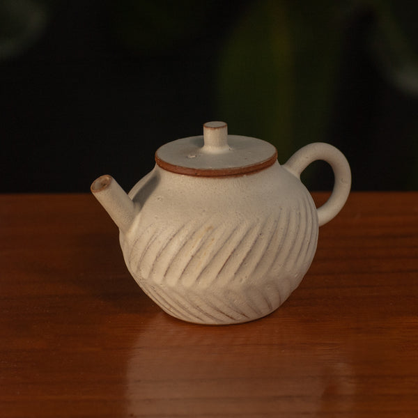 Carved Clay Teapot
