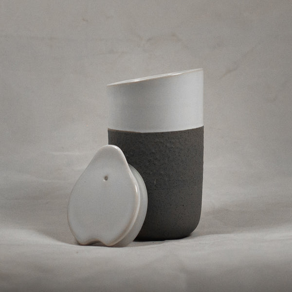 Ceramic Grey Travel Mug