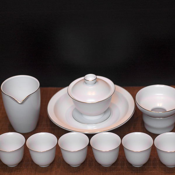 Gold Rimmed Tea Set