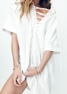 Madewell x Daryl K Beverly Lace Up Dress -SOLD!