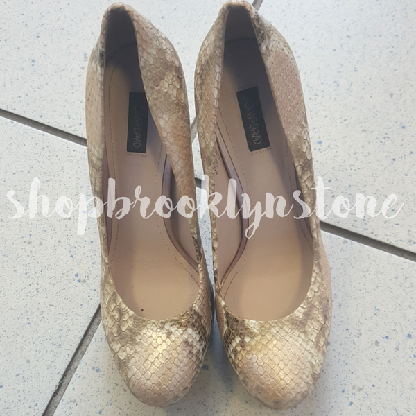 Joan & David Quella Pink Snake Pumps - SALE