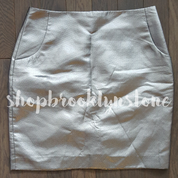 H&M Metallic Silver Skirt - SOLD!