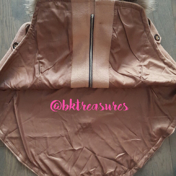 Tan Hooded Cape - SALE!