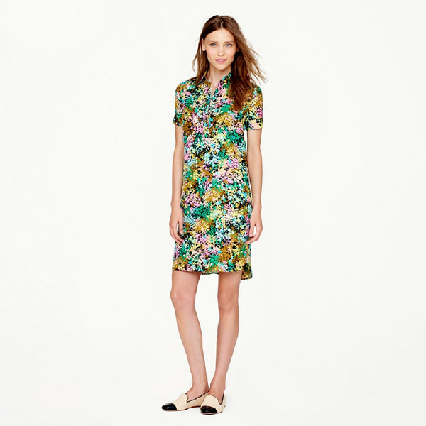 J Crew Silk Shirtdress in Technicolor - SOLD!