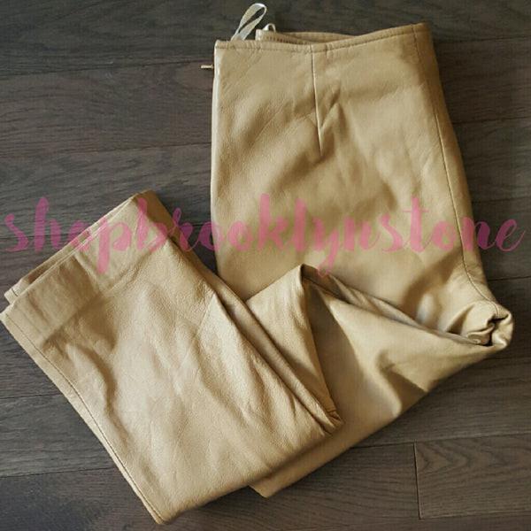 RARE Genuine Tan Leather Pants - SALE!